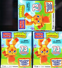 3 x Mega Bloks Blocks - Moshi Monsters Katsuma - 73 Pieces - Brand new - #80651