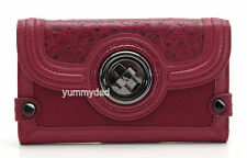 MIMCO PREMONITION LARGE LEATHER WALLET IN SLASHER RED RRP$249