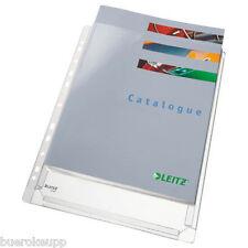 5x LEITZ Prospekthüllen A4 Maxi PVC m. Falz farblos 4756-30-03 Sichthüllen NEU
