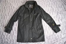 Genuine G-STAR RAW mens heavy cotton lined used look 3/4 coat XXL VGC black