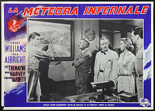 CINEMA-fotobusta LA METEORA INFERNALE g. williams, l. albright, J. SHERWOOD