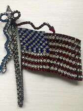 VERY RARE Large BETTINA VON WALHOF American Flag Brooch, EXCELLENT CONDITION!