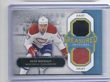 13-14 2013-14 ARTIFACTS RENE BOURQUE TREASURED SWATCHES JERSEY CANADIENS