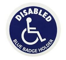 Disabled Blue Badge Holder Blue Circle Information Disabled Sign For Any Surface