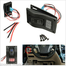 Rocker Switch ON-OFF-ON Car Boat Truck LED Voltmeter Dual Battery Test Panel Kit