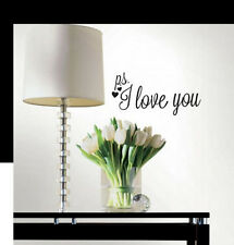 Quote: PS I LOVE YOU wall stickers decor 5 decals inspirational bedroom decor