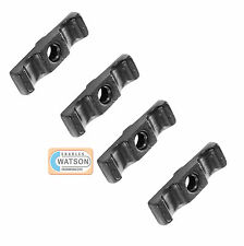 4 x 50mm BLACK TURN BUTTON LATCH Rabbit Hutch Shed Door Cage Cupboard Catch