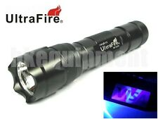 Ultrafire WF-502B UV 1w 365nm Ultraviolet LED Money Detector Torch