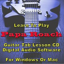 PAPA ROACH Guitar Tab Lesson CD Software - 77 Songs