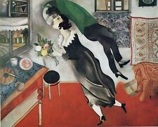 "The Birthday by Marc Chagall, 8"" x 10"", Giclee Canvas Print"