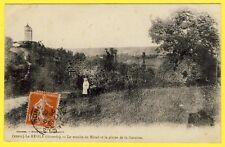 cpa RARE 33 - LA REOLE (Gironde) Le MOULIN du MIRAIL Animée Plaine de la GARONNE