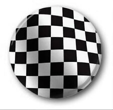 CHECKERED FLAG - 1 inch / 25mm Button Badge - Novelty Ska Specials AKA Madness