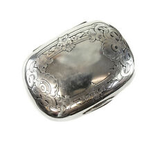 Gorham Sterling Silver Soap Box Holder #B2706, c1900. Hand Chased Florals