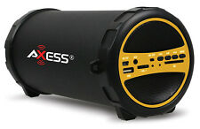 Axess Bluetooth Indoor/Outdoor Cylinder Speaker SD Card USB (Yellow) SPBT1031-YL