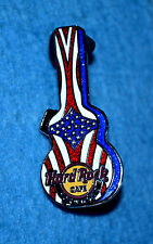 HARD ROCK CAFE 2008 Foxwoods Stars And Stripes Guitar Case Pin # 44187