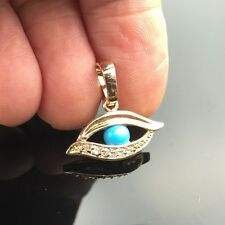 Blue Evil Eye Turquoise Crystal 18K Gold Plated Pendant Fashion Women Jewelry