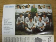 1969/1970 Football League Review: Vol 4 No 32 - Colour Picture - Carlisle United