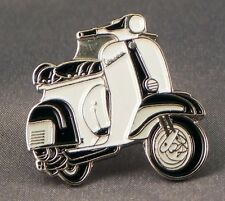 Metal Enamel Pin Badge Brooch Vespa Scooter Motorbike Biker Rider Black White