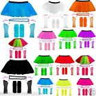 KIDS NEON UV 1980s GIRLS FANCY DRESS HEN PARTY TUTU COMPLETE SET BOOK DAY