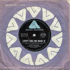 """BARRY MANILOW - LOOKS LIKE WE MADE IT - 7"""" 45 VINYL RECORD 1977"""