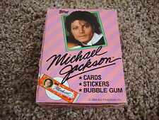 Michael Jackson Official 1984 USA Display Box trading cards stickers bubble gum