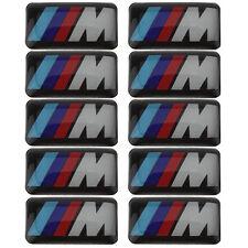 10 Logo M De BMW Sticker 3D Emblème Insigne Jantes et Volant Autocollant 19X11mm