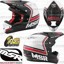 MSR 2017 Adult Helmet Legend 71 MAV3 Black White Red Medium Motocross Enduro ATV