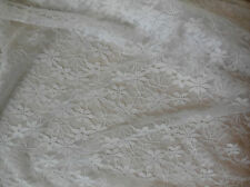Peach pink or white floral lace fabric / bridal lace fabric Sold by per 0.5meter