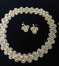 JOSE LUIS FLORES JLF Sterling Silver Necklace SET Mexico WOW!!! Taxco