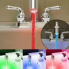 Temperature Sensor 3 Color Water-Tap Faucet RGB Glow Shower Colorful LED Light S