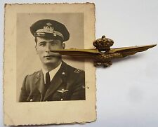 ITALIAN FASCIST BADGE EAGLE BREVETTO WING PILOTA JOHNSON REGIA AERONAUTICA WWII