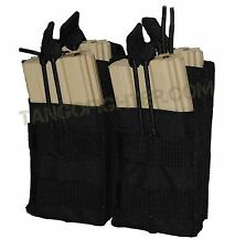 CONDOR MA43 MOLLE Double Stacker 5.56 mm Mag Pouch open top pull tab Black