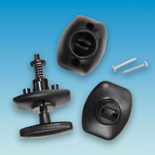 QUICK RELEASE CARAVAN / MOTORHOME EXTERNAL DOOR LOCK RETAINER LOCKS  - BLACK