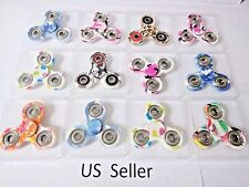 Wholesale Lot 10x Fidget Hand Tri Spinner Camouflage Camo Color Finger Toys Kid