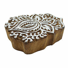Floral Stamp Indian Wooden Textile Stamps Wood Printing Block Decorative Block
