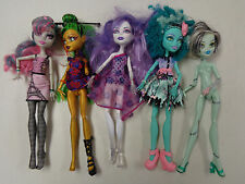 MONSTER HIGH BARBIE DOLLS LOT OF  5   DOLLS   RARE DOLLS  LOT   WEIRD BUT CUTE