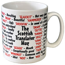SCOTTISH SCOTS SLANG DIALECT QUALITY GIFT MUG DESIGNED AND PRINTED IN THE UK