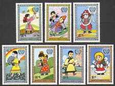 Mongolia 1977 Unicef/Children/Flowers/Rainbow 7v n21722