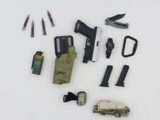 Easy & Simple BRAGG 26007 1/6 G17 Pistol Multicam Holster Knife GPS Watch LOT