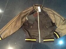 NWT Money 750 Limited Edition Men's Brown Silk Bomber Jacket Size Medium (Rare)