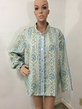 """""""Susan Graver"""" Womens Beautiful Embroidered 100% Polyester Lightweight Jacket 2X"""