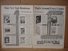 1985 Barnes & Noble New York Book Stores around Corner Vintage Print Ad 160