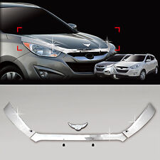 Chrome Front Emblem Hood Garnish Guard 4p For 10-14 Hyundai Tucson ix35