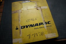 DYNAPAC 1978 CC42A ROLLER COMPACTOR SERVICE REPAIR parts book OPERATOR  MANUAL