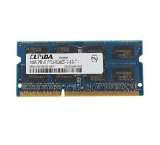 Elpida 2GB DDR3 2RX8 PC3-8500S 1066MHz 204PIN CL7 SO-DIMM For RAM Laptop Memory
