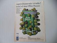 advertising Pubblicità 1968 OLIO SASSO