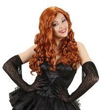 Ladies Long Curly Red Roaring 20s Wig Razzle Flapper Girl Gatsby Fancy Dress