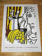 "ROY LICHTENSTEIN POSTER "" STILL LIFE WITH PICASSO "" POP ART EXHIBITION in MINT"