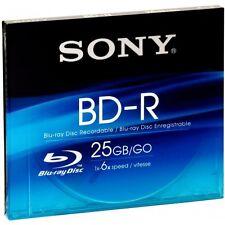 Sony BNR25SL BD-R Blu-ray Disc 25GB 6x