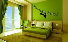 Wall Car Decor Vinyl Sticker Decal Mural Art Guitar Rock Music Popular Removable
